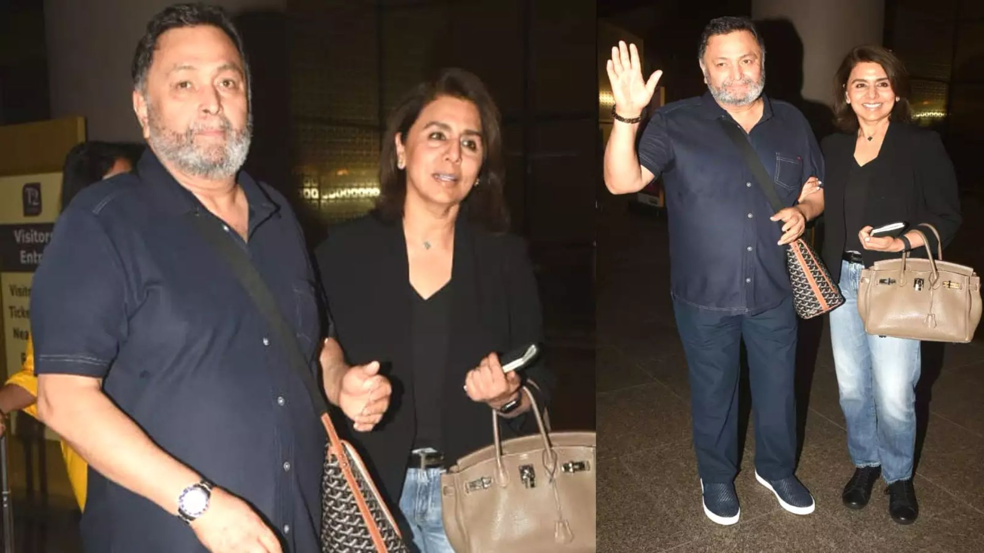 Rishi Kapoor returned to India after getting treatment for cancer