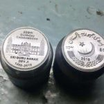 Silver coins issued in memory of 550th Prakash Parv of Guru Nanak Dev Ji